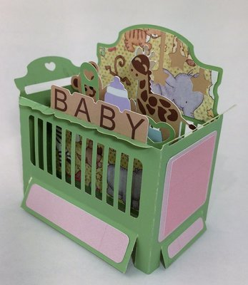 Baby Crib Box Card - NEUTRAL