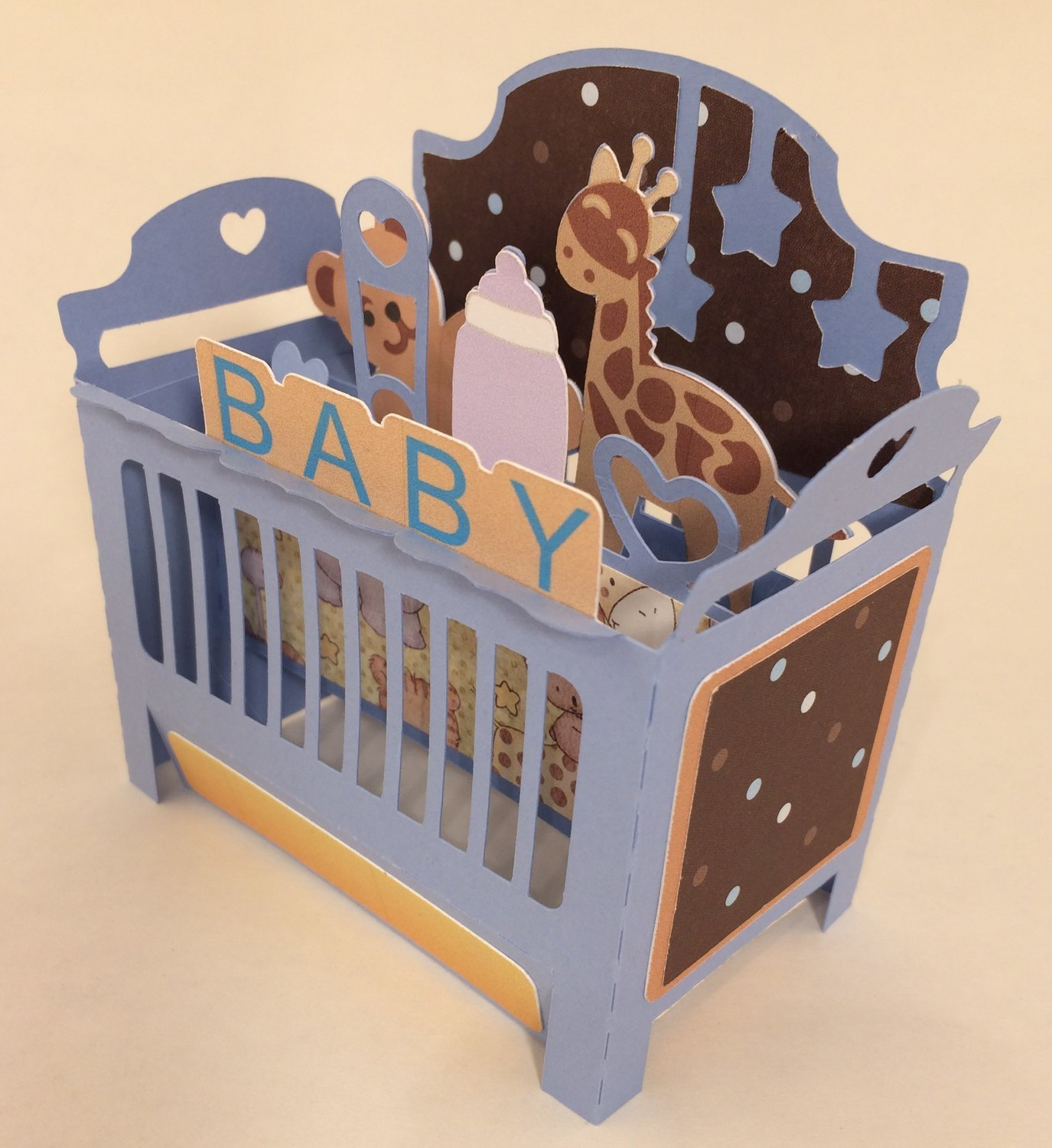 Baby Crib Box Card - BOY