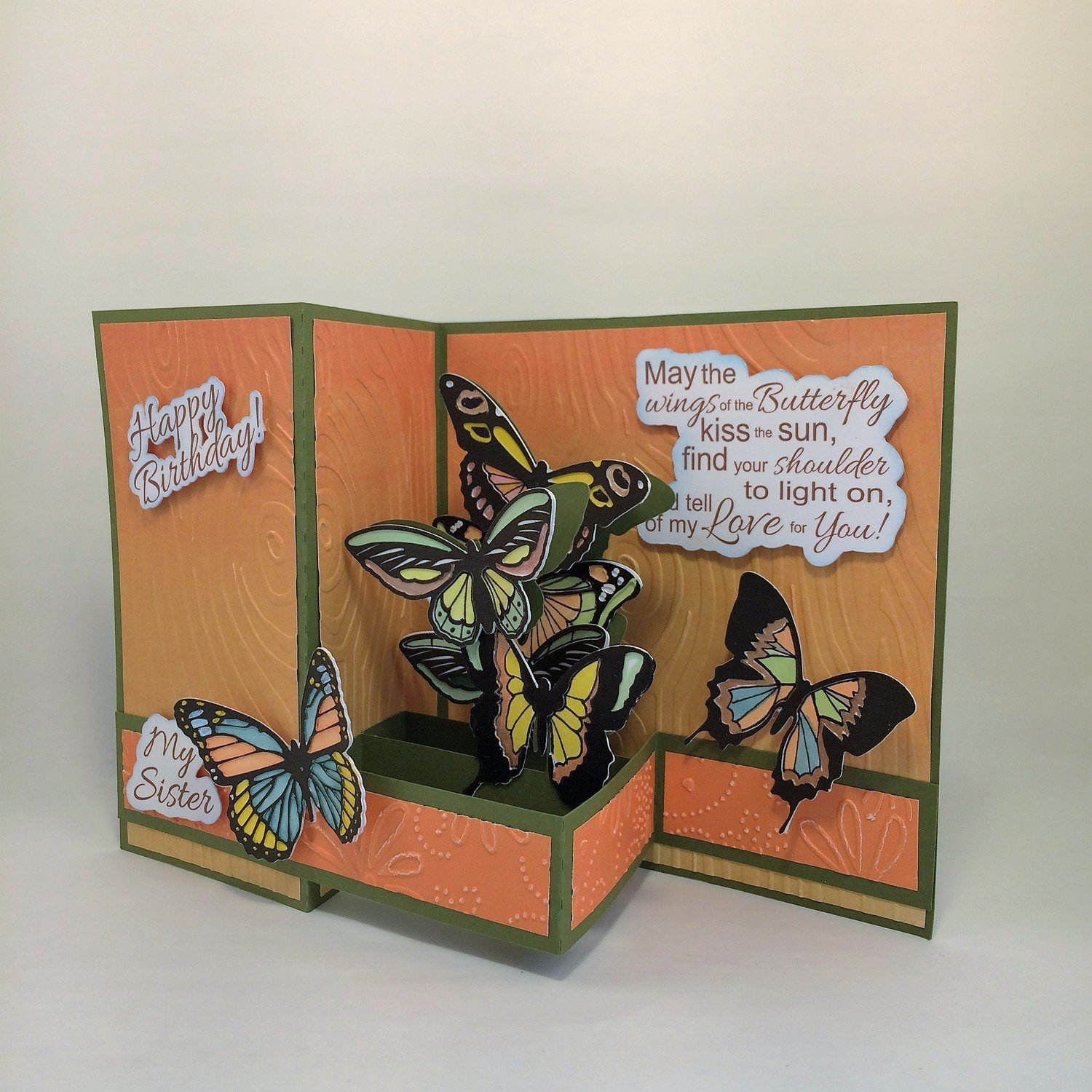 Southwest Colors Butterfly card