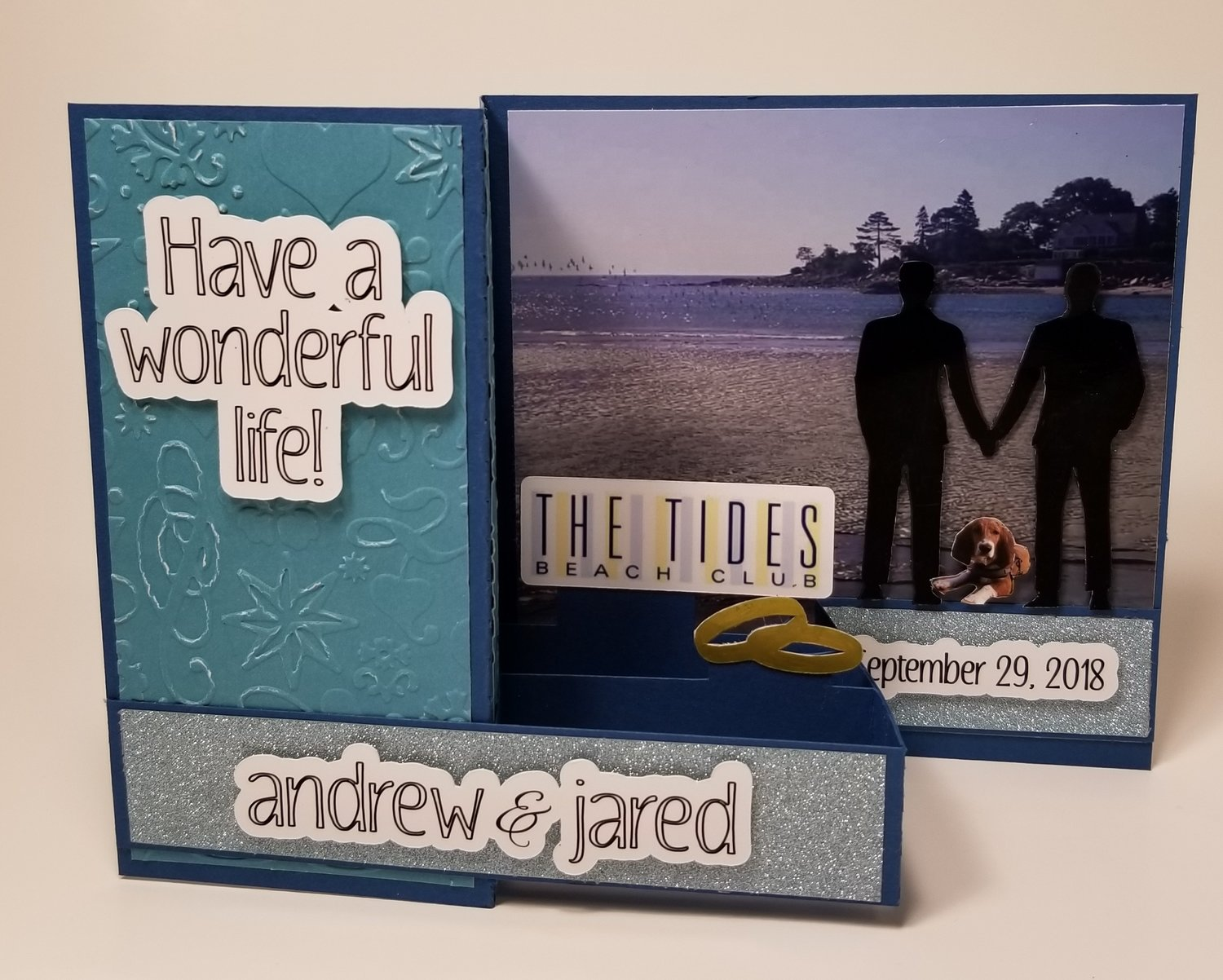 Custom Gay Couple Wedding Card