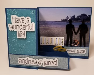 Custom Gay Couple Wedding Card