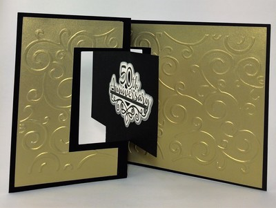 50th Anniversary card with gift card insert