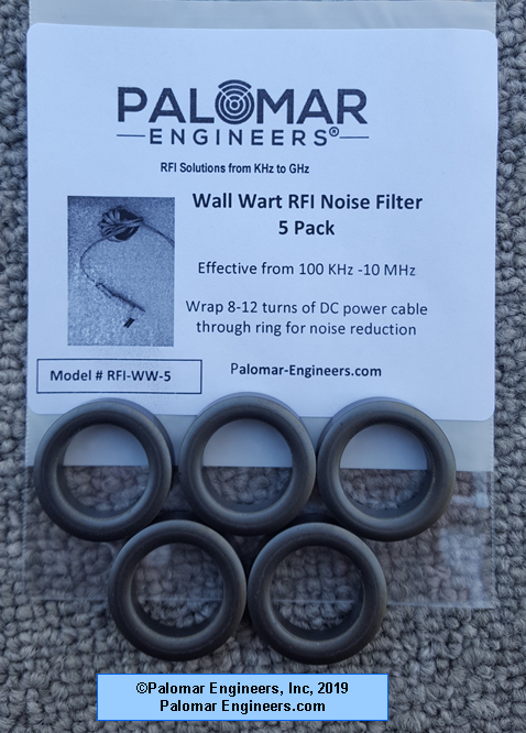 Wall Wart RFI Noise Filter Pack (5 filters) RFI-WW-5