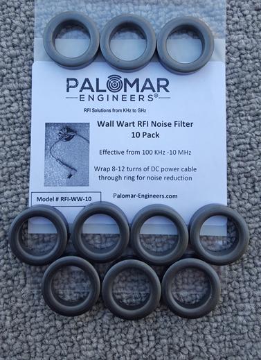 Wall Wart RFI Noise Filter Bulk Pack of 10 Filters RFI-WW-10
