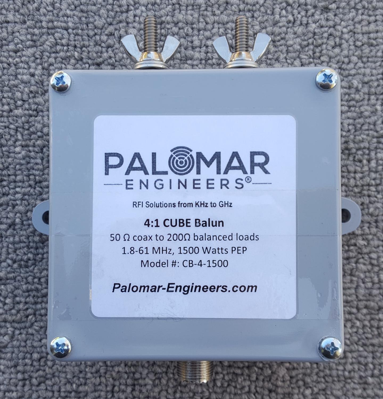 50:200 (4:1) CUBE™ Ladder Line to Coax Balun, 1.8-61 MHz, 1500 Watts PEP, Zepp, G5RV