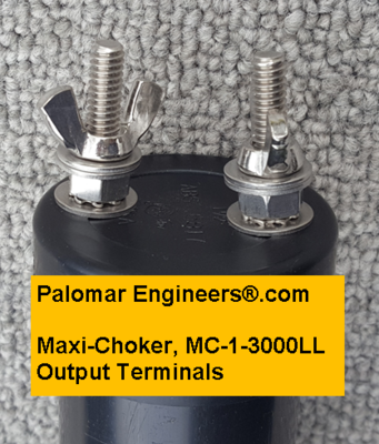MAXI-CHOKER Coax Line Isolator/Balun, 1-61 MHz, 3KW, SO-239 In/Stud Output, G5RV/ZS6BKW Replacement