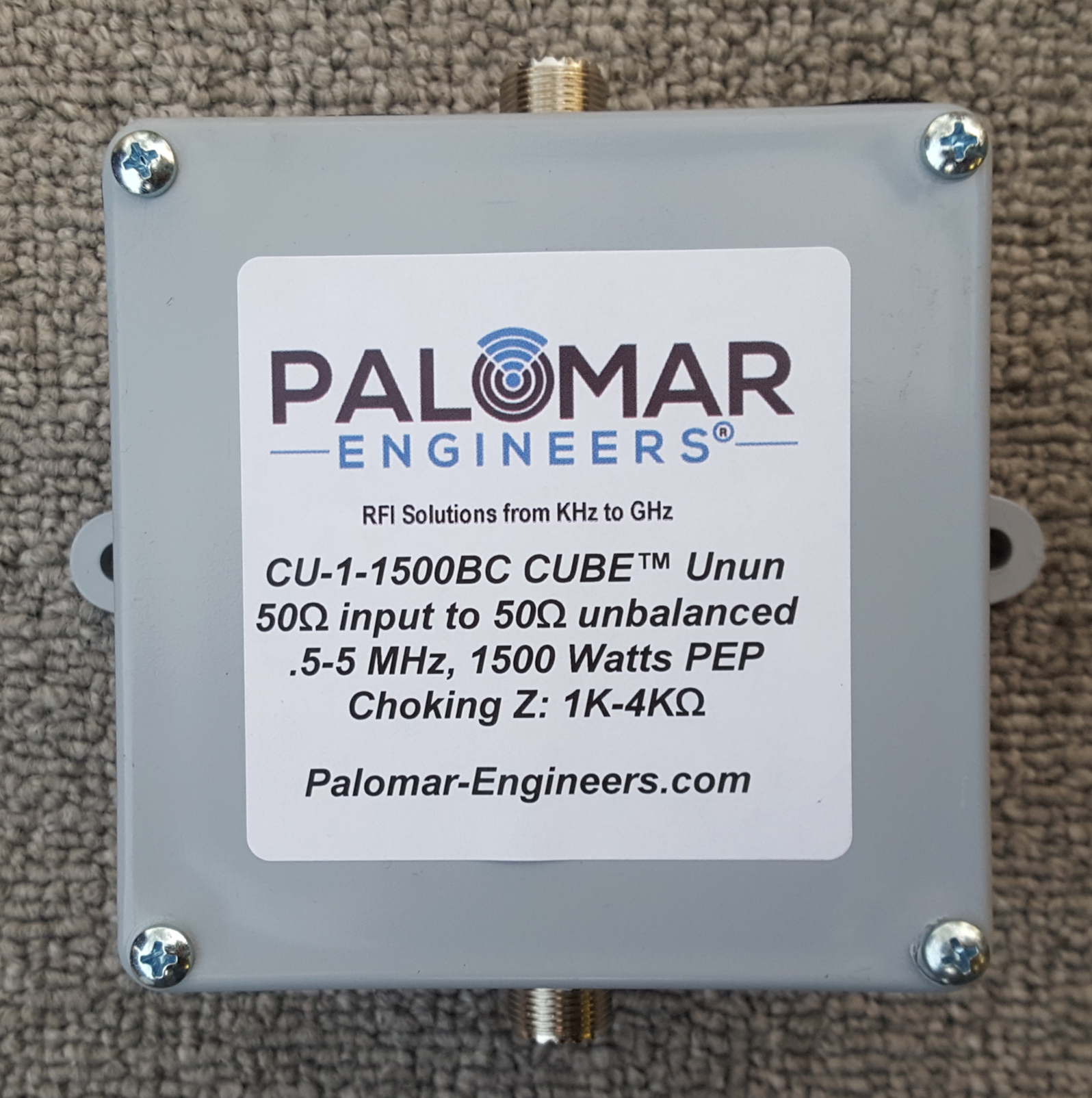 CUBE Feed Line Choke, 1:1, 1.5KW PEP, .5-5 MHz, AM Broadcast Filter CU-1-1500BC