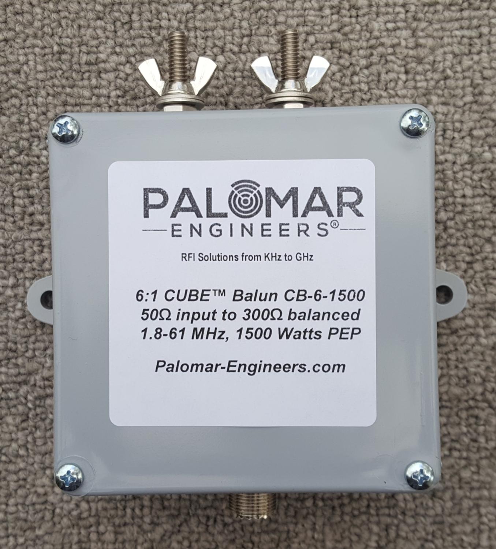 50:300 (6:1) CUBE™ Balun, 1-61 MHz, 1.5/3KW (choose top stud/eyebolt/power rating)