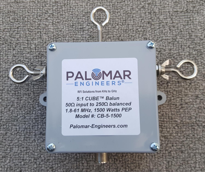 50:250 ohm (5:1) CUBE™ Balun, 1.8-61 MHz, 1500 Watts