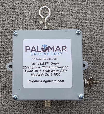 50:250 ohm (5:1) CUBE™ Unun™, 1.8-31 Mz, 1500 Watts, end fed, vertical