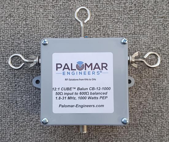 50:600 ohm, (12:1) CUBE™ Balun/Unun, 1-31 MHz Balun/Unun, 1KW/2KW/4KW PEP CB-12-1000