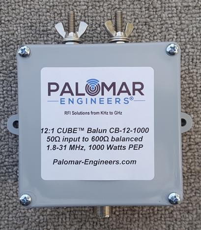 50:600 ohm, (12:1) CUBE™ Balun/Unun, 1-31 MHz Balun/Unun, 1KW/2KW/4KW PEP