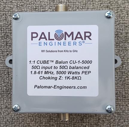 CUBE Feed Line Choke Unun, 5KW, 1.8-61 MHz CU-1-5000