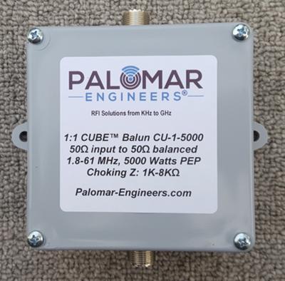 CUBE Feed Line Choke Unun, 5KW, 1.8-61 MHz