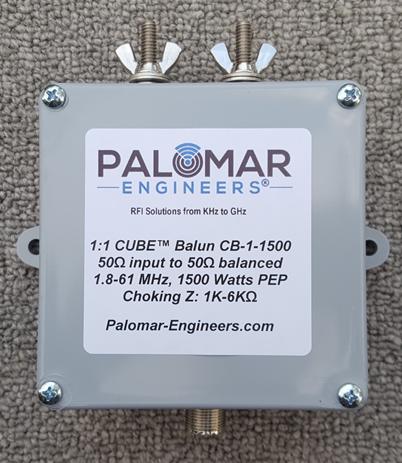 50:50 (1:1) CUBE™ Ladder line to Coax Balun, 1.8-61 MHz, 1.5KW, G5RV/ZS6BKW