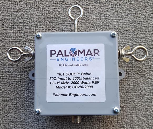 50:800 ohm (16:1) CUBE™ Balun, 1-31 MHz, 1KW/2KW PEP