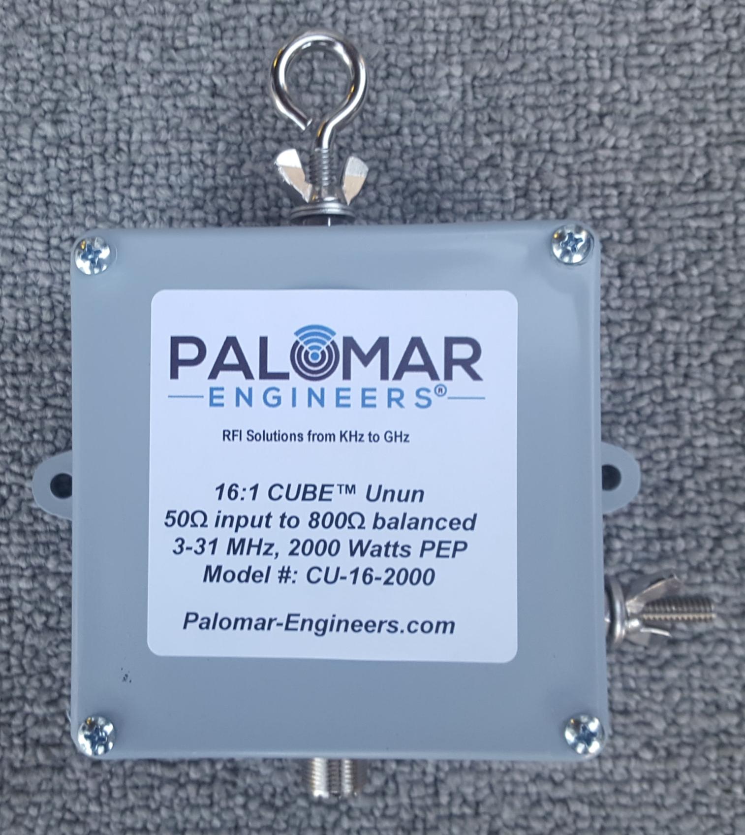 50:800 ohm (16:1) CUBE™ Unun 3-43 MHz - 1KW/2KW PEP CU-16-1000SS