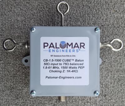 50:75 ohm (1.5:1) CUBE™ Balun/Unun, 1.8-61 MHz, 1.5KW PEP