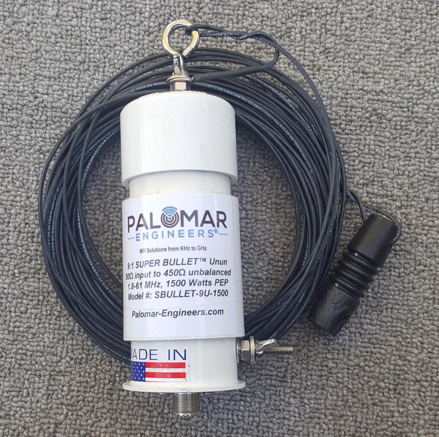 Bullet End Fed 500/1500 Watt Antenna (1.8-61 MHz) - 55-203 FT