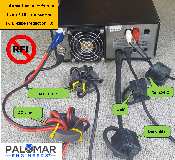 Icom IC-7300 Transceiver RFI Kit - 5 Noise Reduction Filters