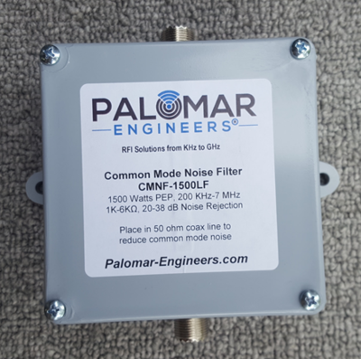 Coax Common Mode Noise Filter - 1500 Watts, 200 KHz to 7 MHz