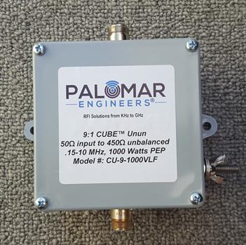 50:450 ohm (9:1) CUBE™ Unun, 150 KHz - 10 MHz, VLF, 1000 Watts PEP