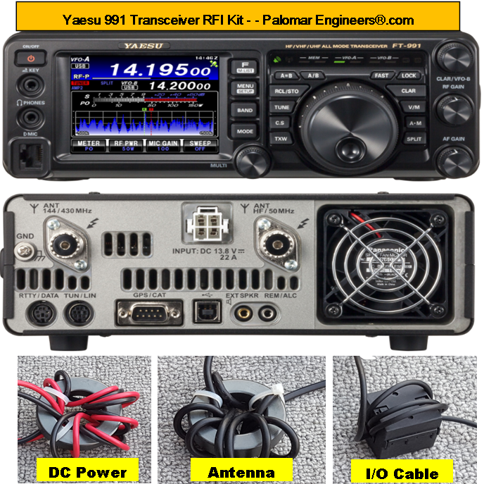 Yaesu 991 Transceiver RFI Kit - 8 RFI/Noise Reduction Filters