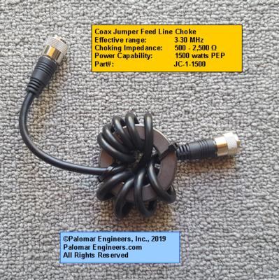 Jumper Feed Line Choke - RG8X - RFI Range: 3-30 MHz