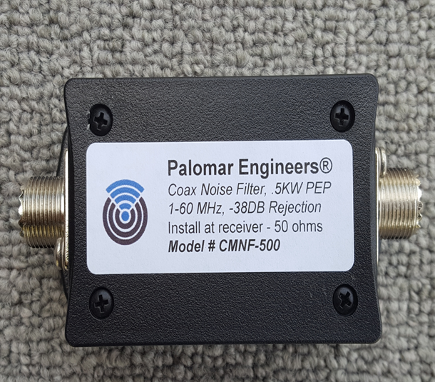 Coax Common Mode Noise Filter - 500 Watts PEP, 1-60 MHz