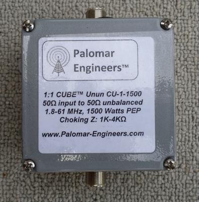 CUBE Feed Line Choke/Line Isolator Unun, 1.5KW, 1.8-65 MHz, -38dB Suppression