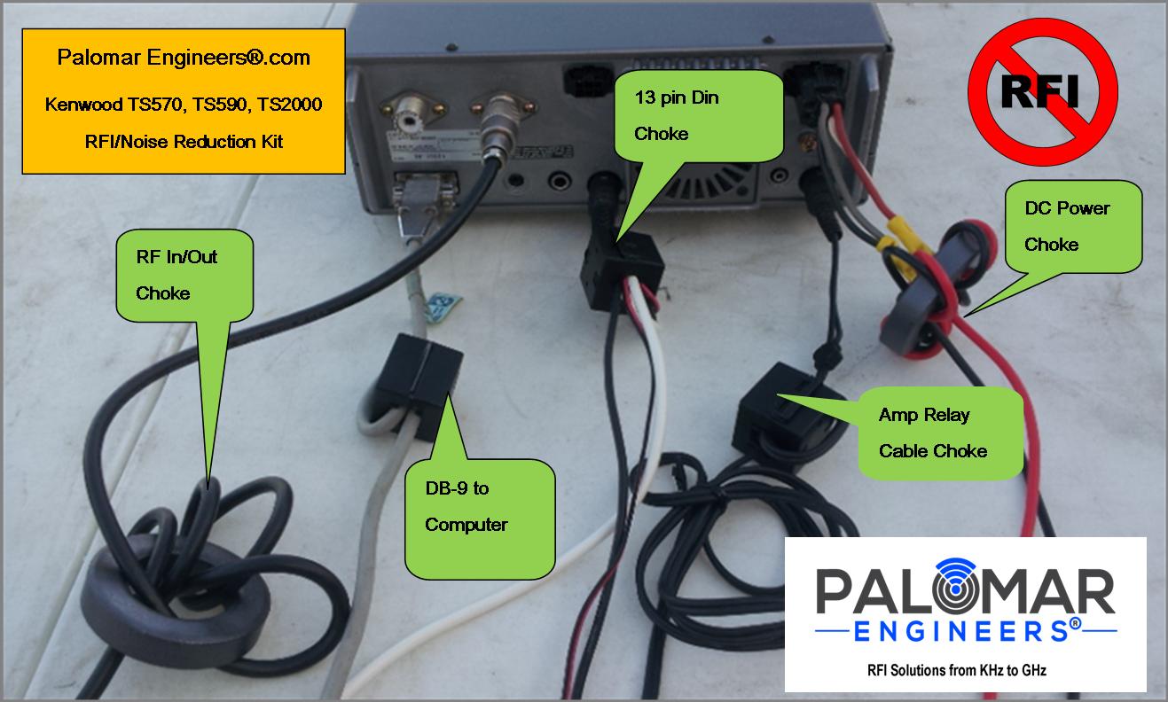 Kenwood TS570, 590, 2000 Transceiver RFI Kit - 5 Noise Reduction Filters