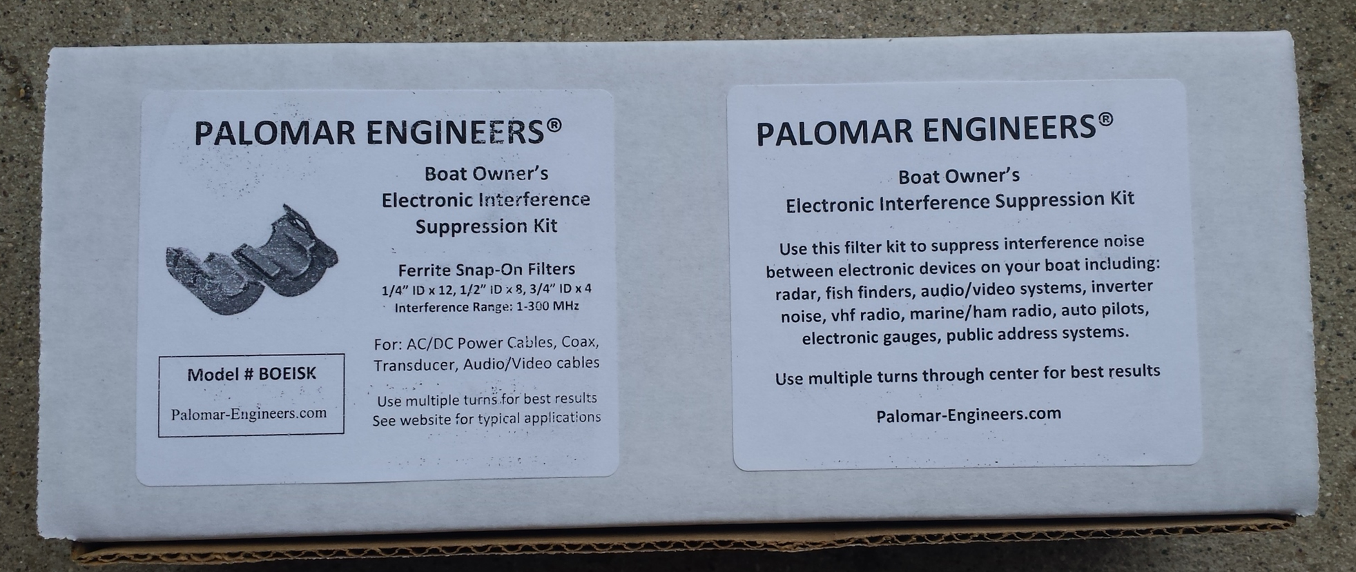 Marine/RV Owner's Electronic Interference Suppression Kit RFI-Boat