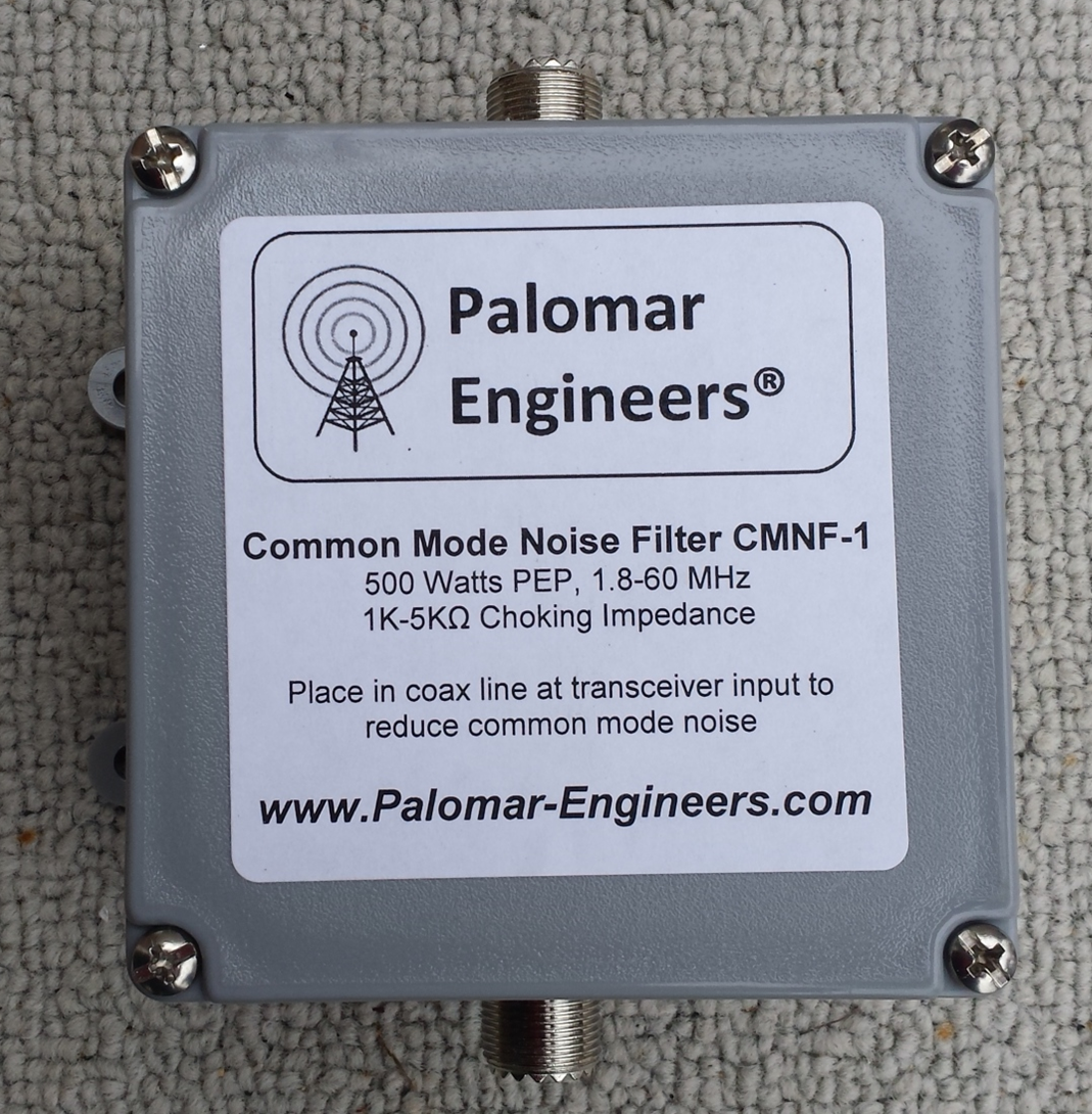 Common Mode Coax Noise Filter - 500 Watts, 1.8-60 MHz CMNF-1XX