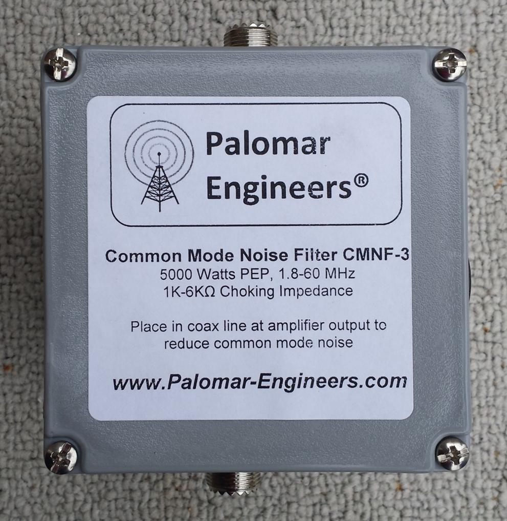 Common Mode Coax Noise Filter - 5000 Watts, 1.8-60 MHz CMNF-5000HF