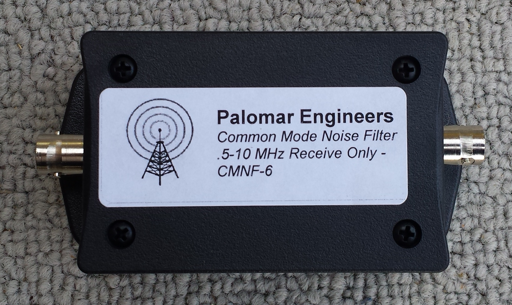 CABLE TV/Satellite RFI Coax Noise Filter, stops 200 KHz-30 MHz interference