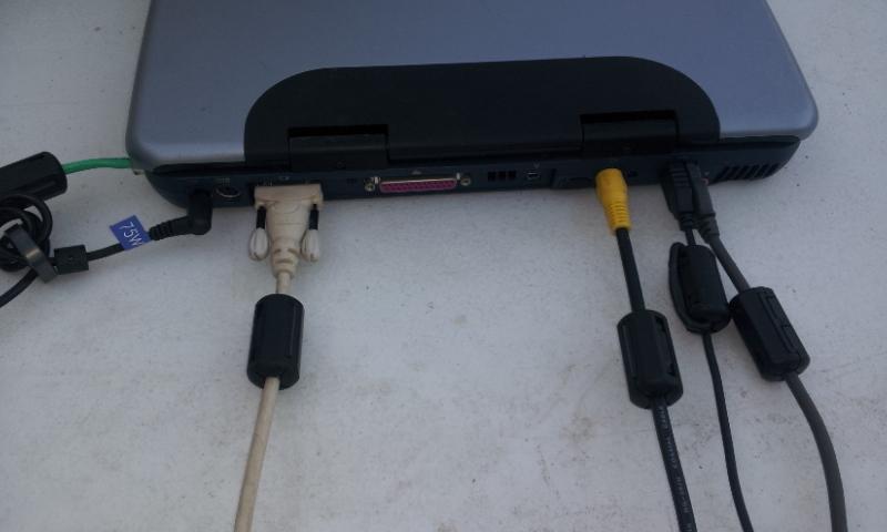 Laptop Computer with DC power RFI Kit - 7 Filters RFI-Laptop