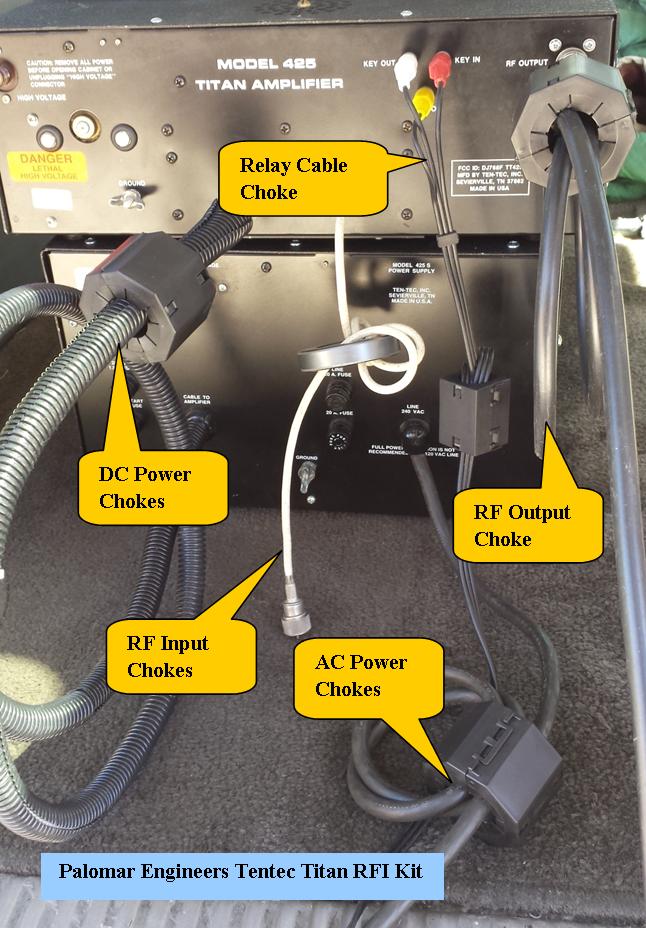 HF Linear Amplifier RFI Kit - Ten Tec Titan - 5 Filters