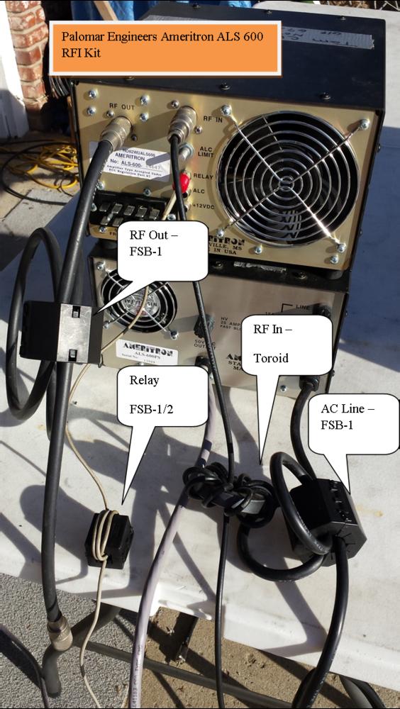 HF Linear Amplifier RFI Kit - Ameritron ALS600/1300/1306 - 5 Filters