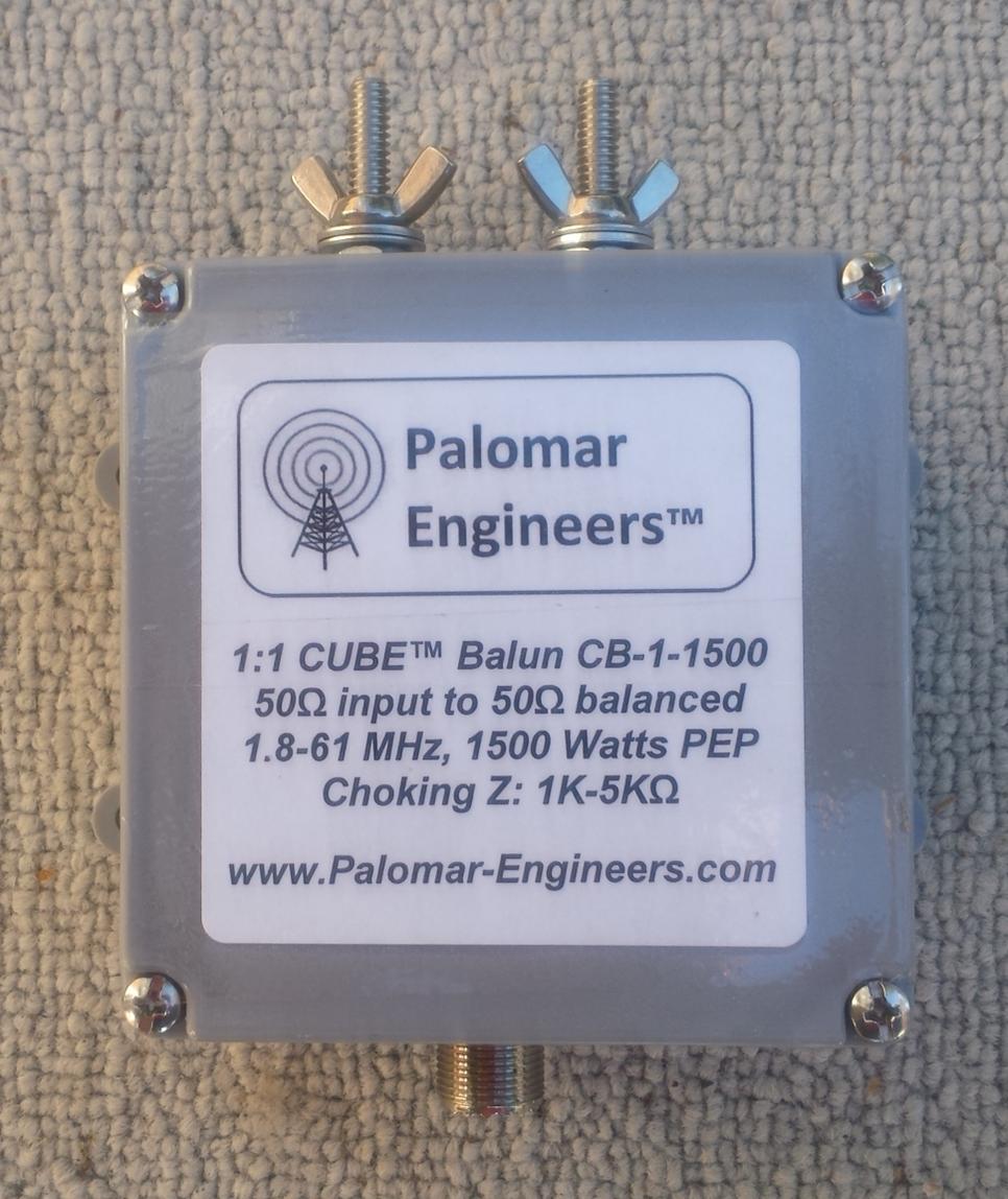 CUBE Feed Line Choke Balun, 1.5KW PEP, 1.8-61 MHz CB-1-1500