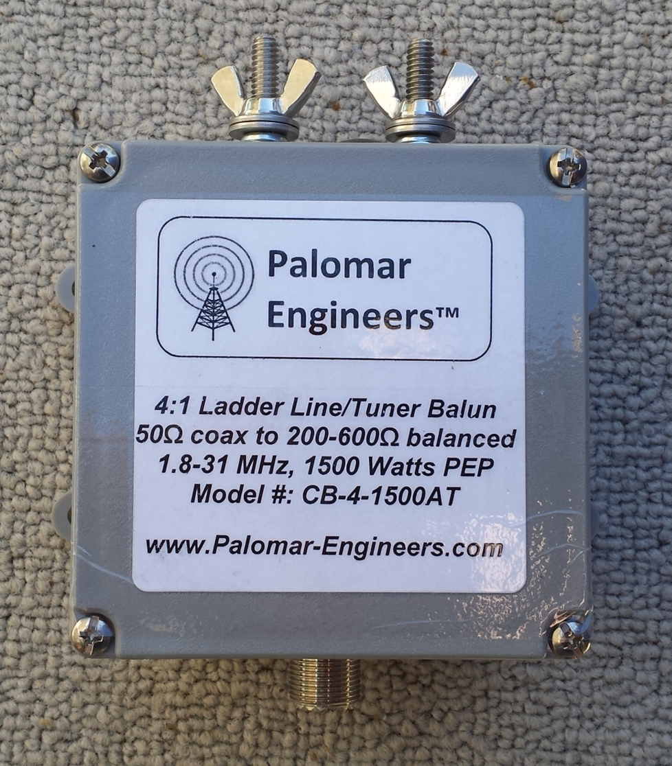 50:200 (4:1) CUBE™ Ladder line to Coax Balun, 1.8-31 MHz, 1500 Watts PEP, Zepp CB-4-1500AT