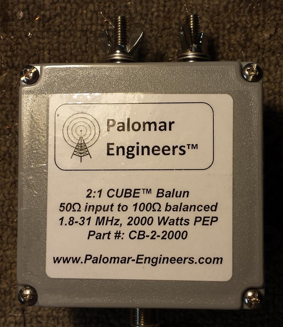 50:100 (2:1) CUBE™ Balun/Unun  1.8-61 MHz, 2KW, Loop Antennas CB-2-2000
