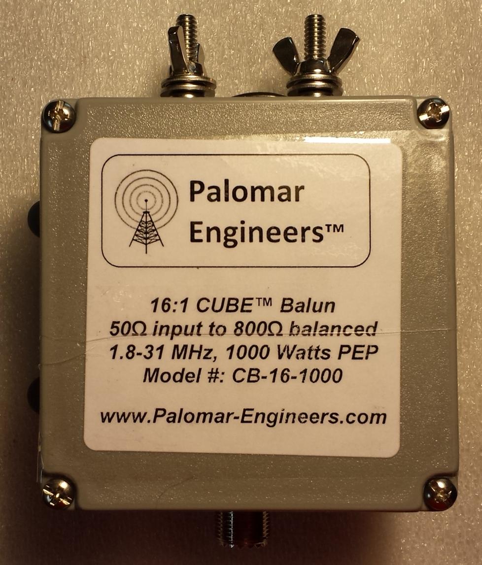 50:800 ohm (16:1) CUBE™ Balun/Unun 1.8-31 MHz Balun - 1KW/2KW PEP CB-16-1000