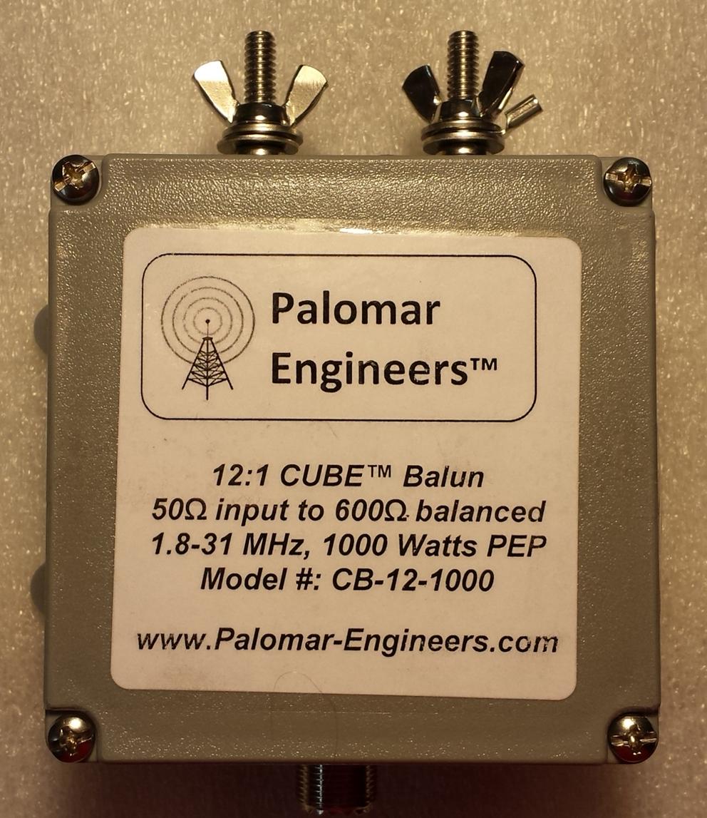 50:600 ohm, (12:1) CUBE™ Balun/Unun, 1-31 MHz Balun, 1KW/2KW CB-12-1000
