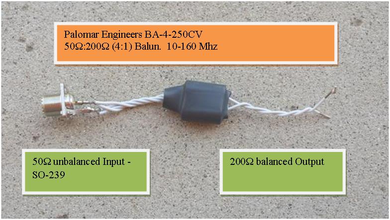 50:200 ohm (4:1) VHF Balun or Unun Core Kit, 10-160 MHz, 250 watts BA-4-250CV