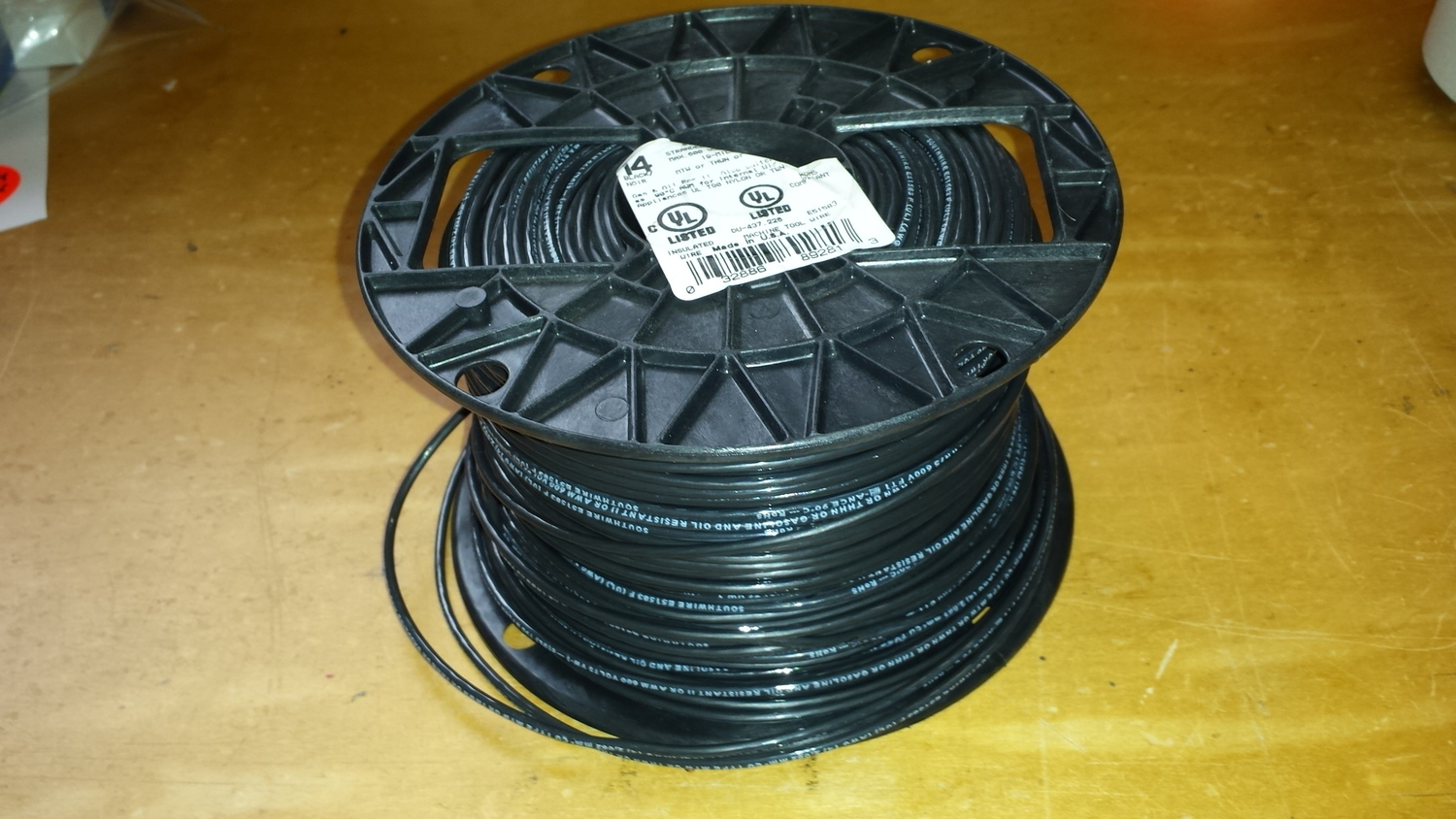 Antenna Wire #14 Stranded PVC Black wire - 500 Ft Roll on