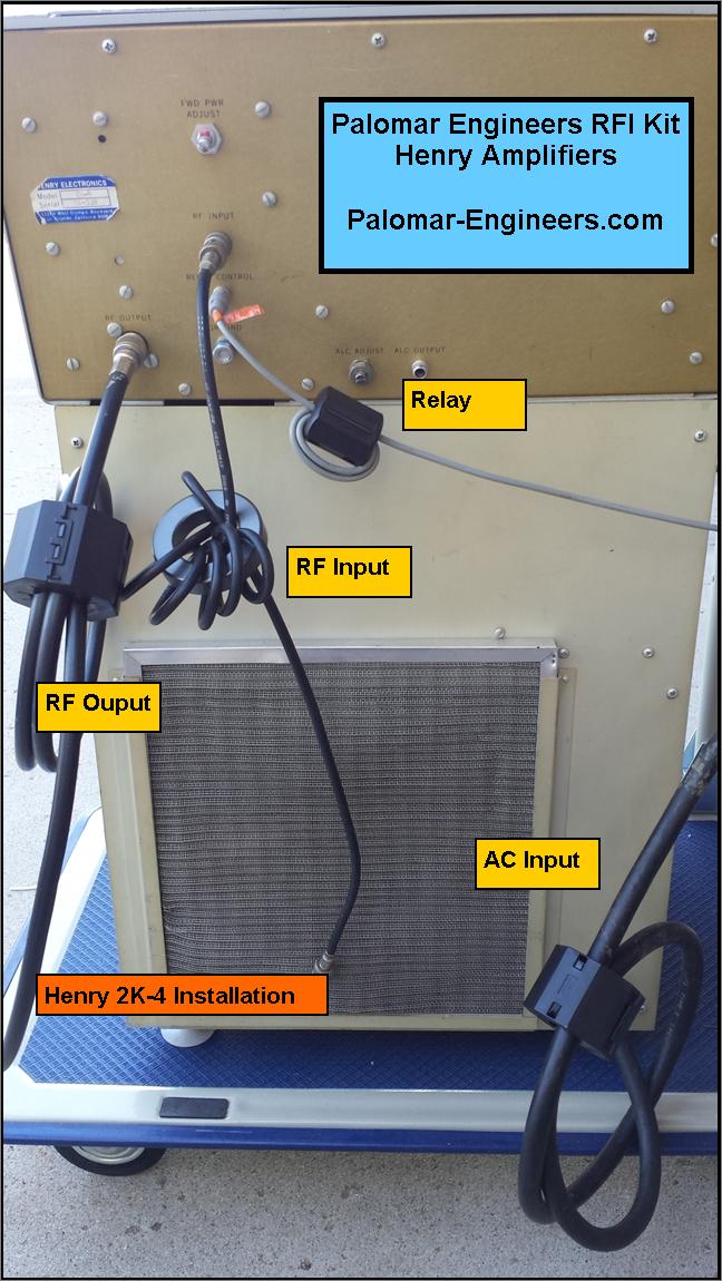HF Linear Amplifier RFI Kit - Henry 1K, 2K, 3K, 4K, 5K, 8K - 4 Filters for RF In/Out, AC power, Relay/PTT