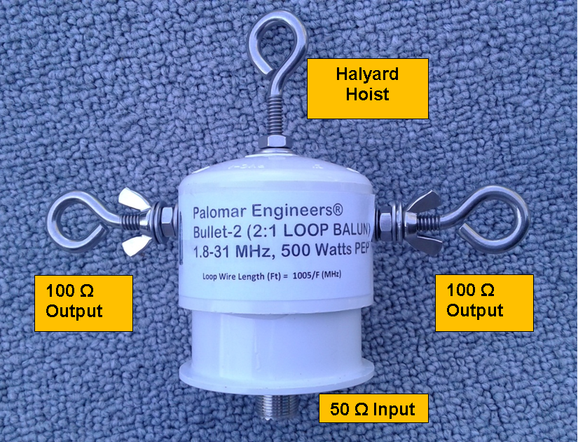 Bullet 50:100 (2:1) HF Balun,  1-61 MHz, 500 Watts PEP, Loop Antenna 4 8  based on 44 reviews | Ask question