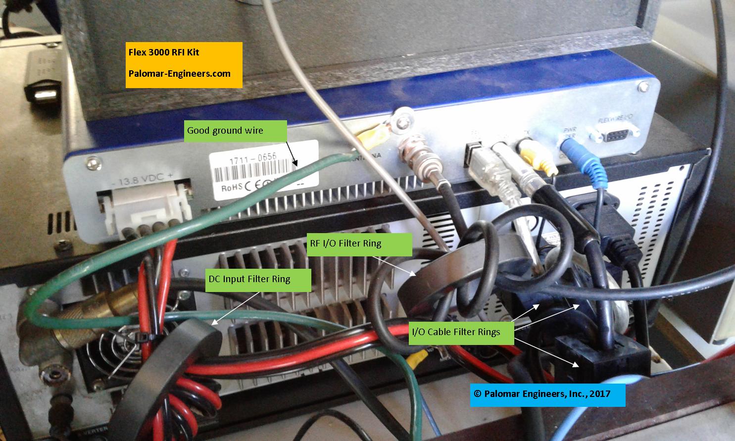 Flex Radio 3000 Transceiver RFI and Noise Reduction Kit, RFI Range 1-60 Mz, 6 Filters