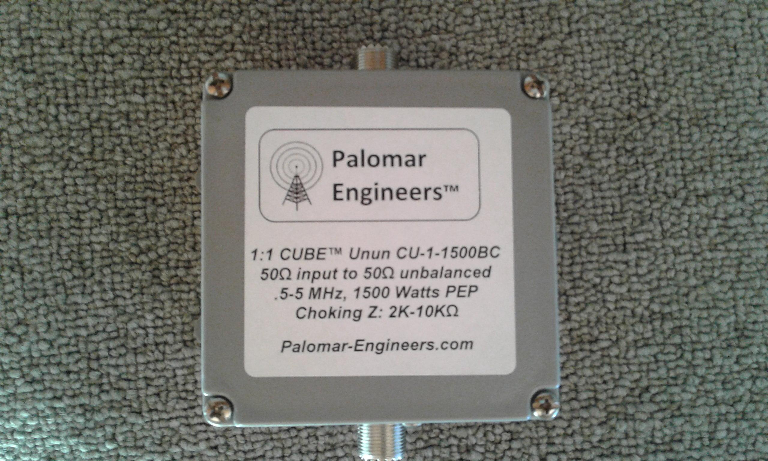 CUBE Feed Line Choke Unun/Balun, 1:1, 1.5KW PEP,11-61 Mhz, HF Beams, CB CU-1-1500CB