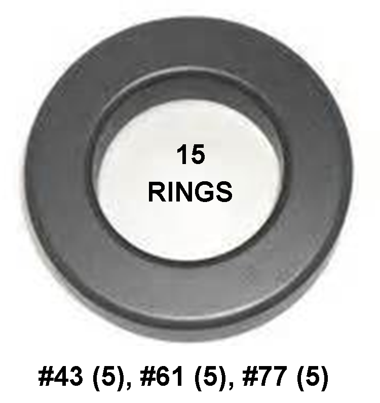 "Ferrite Ring Combo Pack, FT140 - .9"" ID, 15 Rings - Mix 43, 61, 77, RFI Range .1-2000 MHz FRCP-140-15"